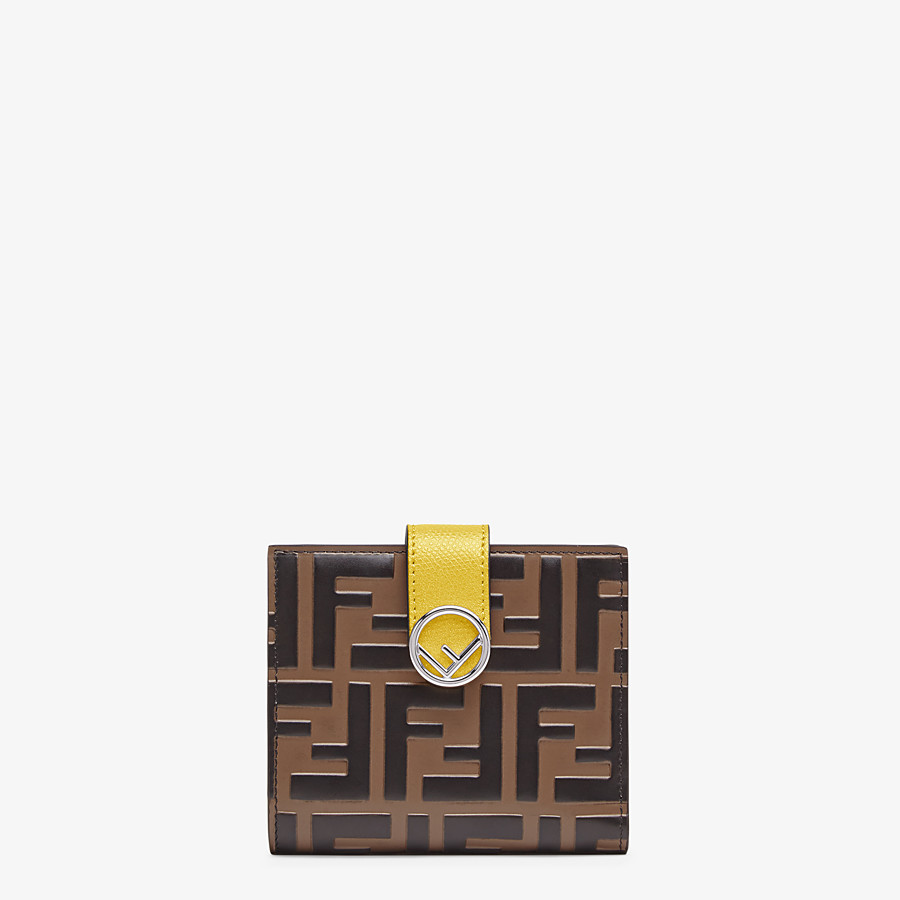 FENDI BIFOLD - Compact, yellow leather wallet - view 1 detail