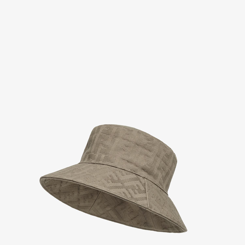 FENDI HAT - Beige canvas bucket hat - view 1 detail