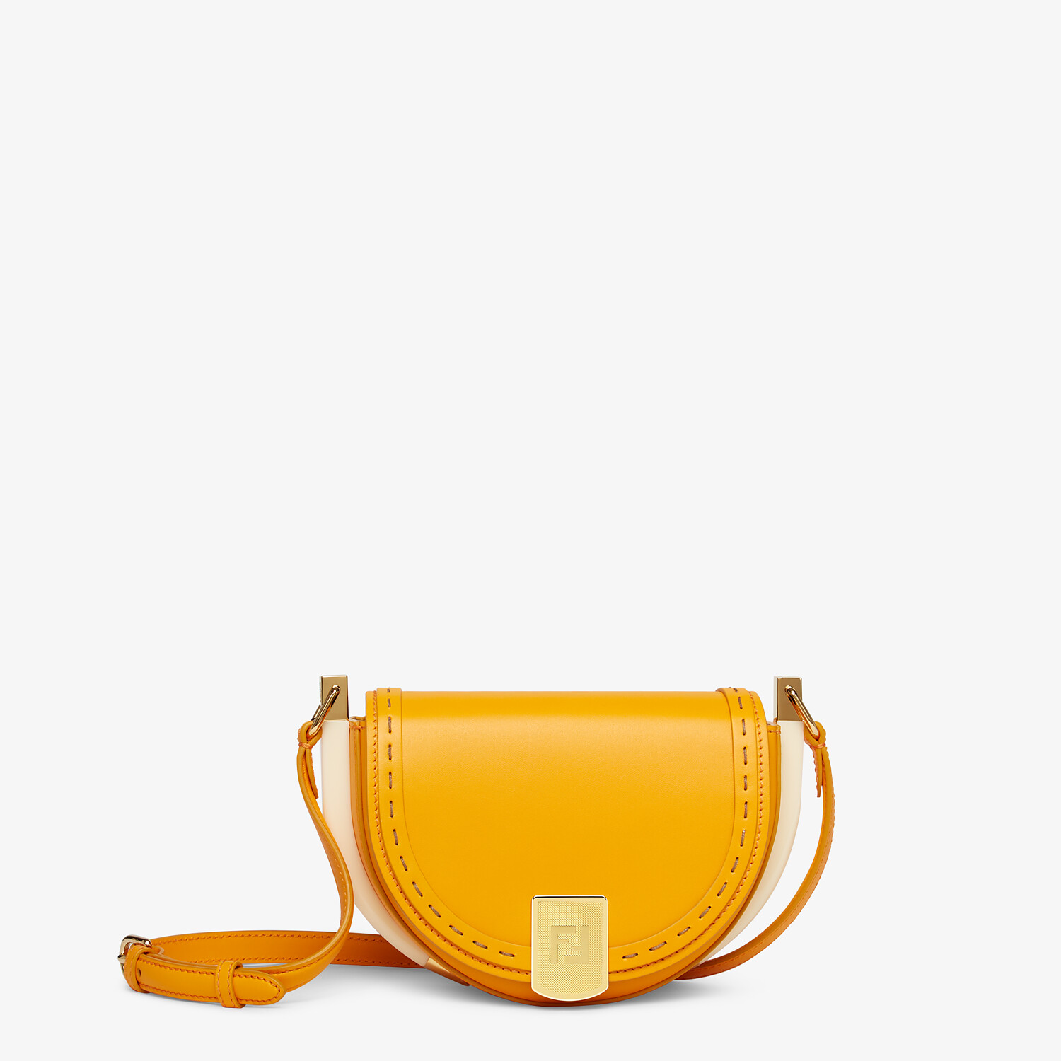 FENDI MOONLIGHT - Orange leather bag - view 1 detail