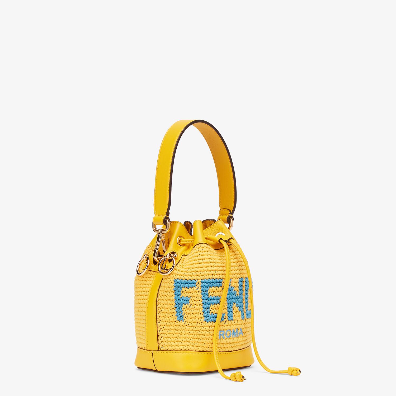 FENDI MON TRESOR - Yellow crochet cotton mini-bag - view 3 detail