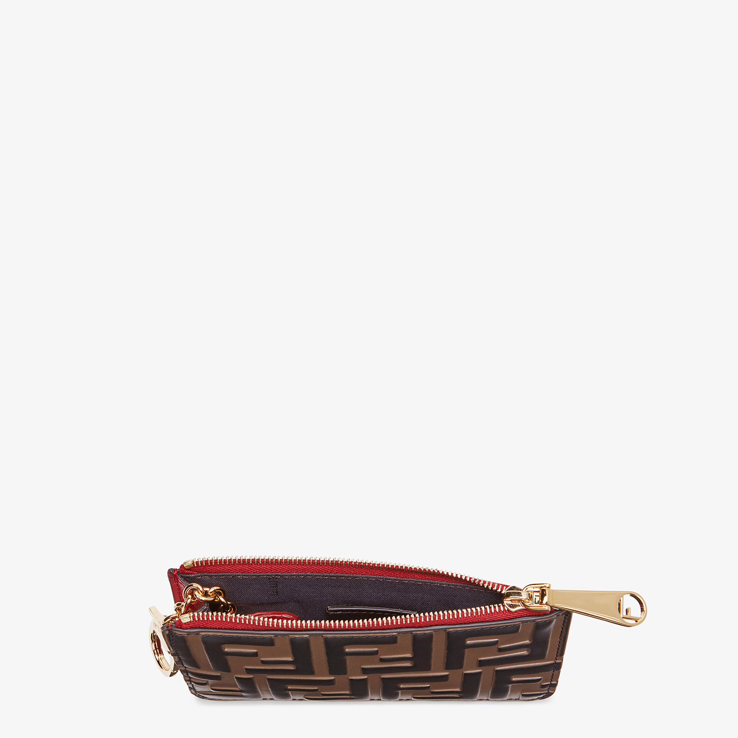 FENDI KEY CASE POUCH - Red leather pouch - view 4 detail