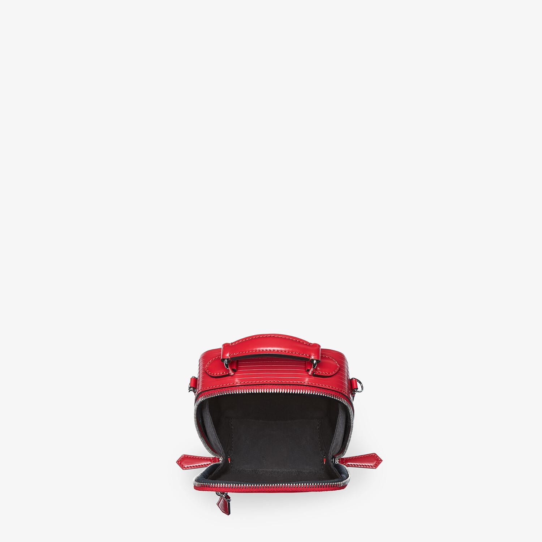 FENDI TRAVEL MINI BAG - Red leather bag - view 4 detail