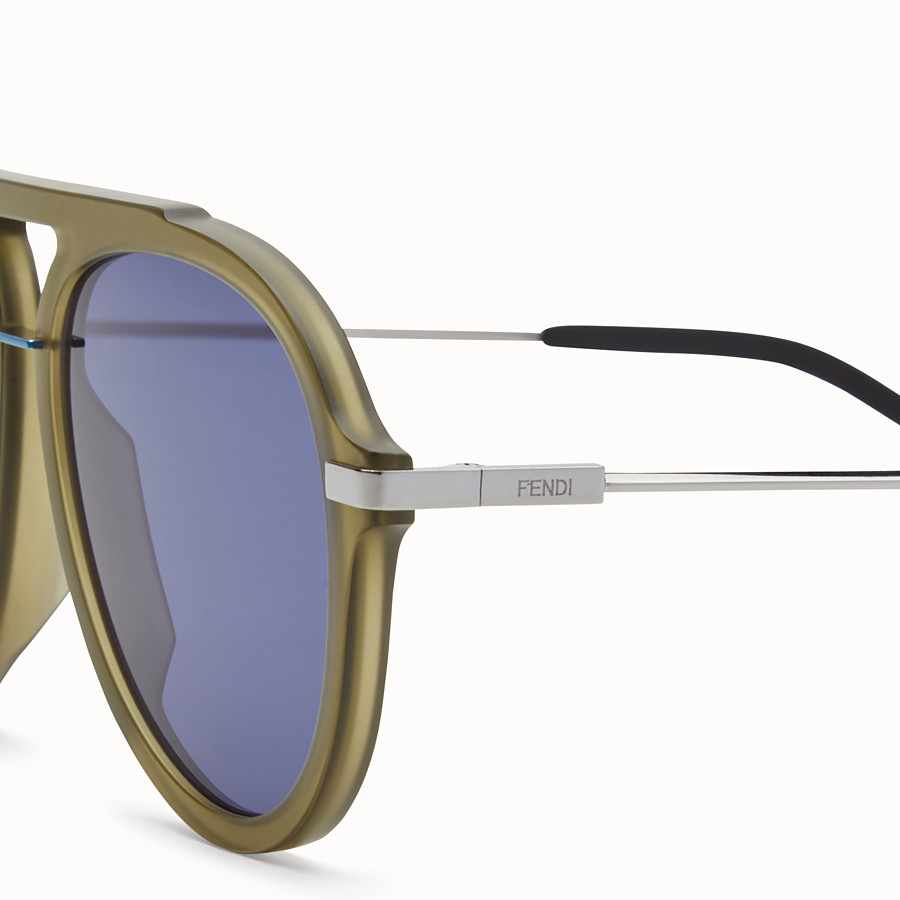 FENDI FENDI FANTASTIC - Green satin-finish sunglasses - view 3 detail