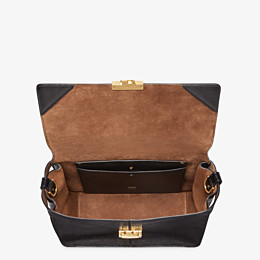 FENDI KAN U LARGE - Black leather bag - view 4 thumbnail
