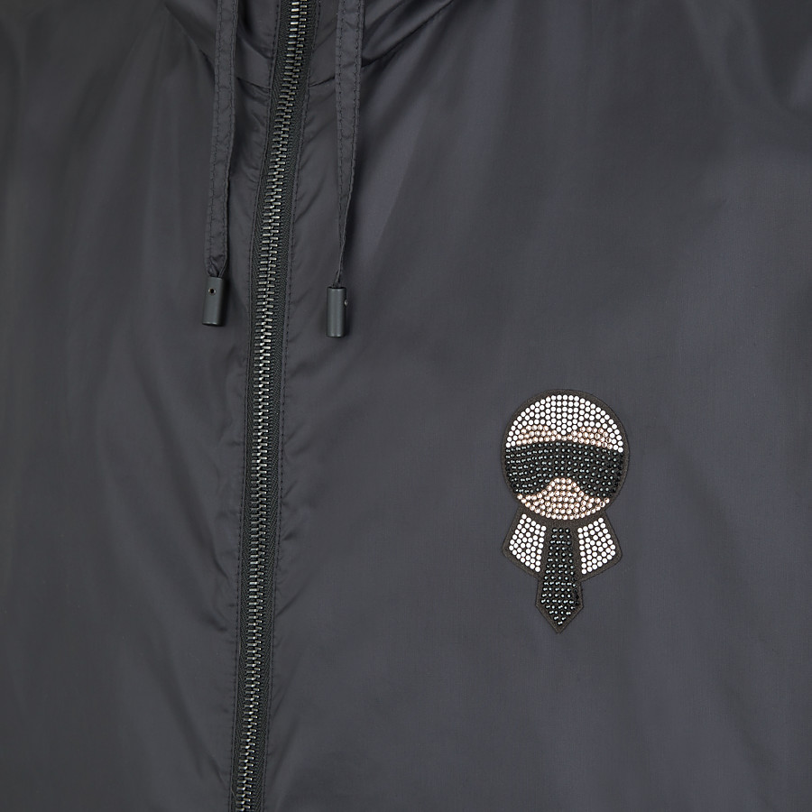 FENDI WINDBREAKER - Black fabric windbreaker - view 3 detail