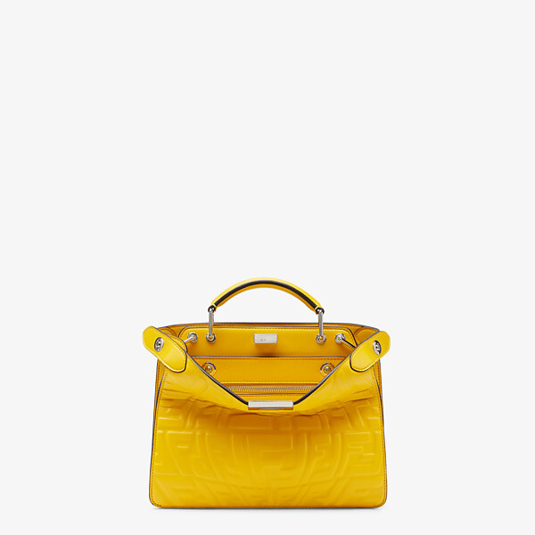 Yellow nappa leather bag