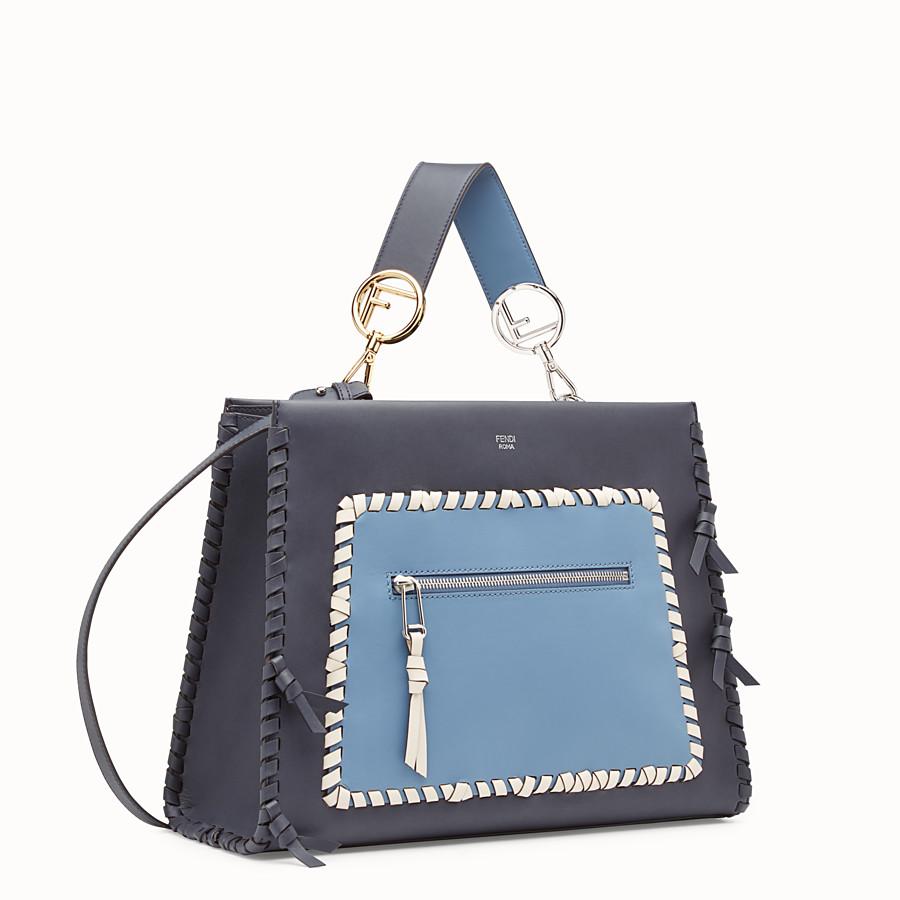 FENDI RUNAWAY REGULAR - 藍色皮革手袋 - view 2 detail