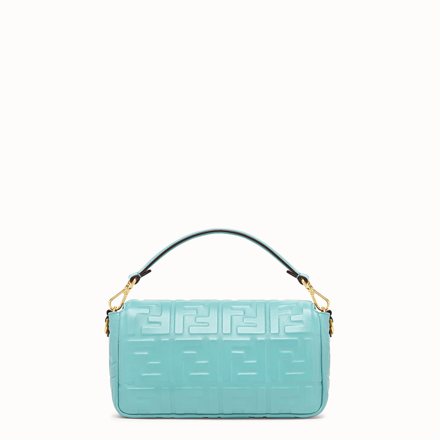 FENDI BAGUETTE - Pale blue leather bag - view 4 detail