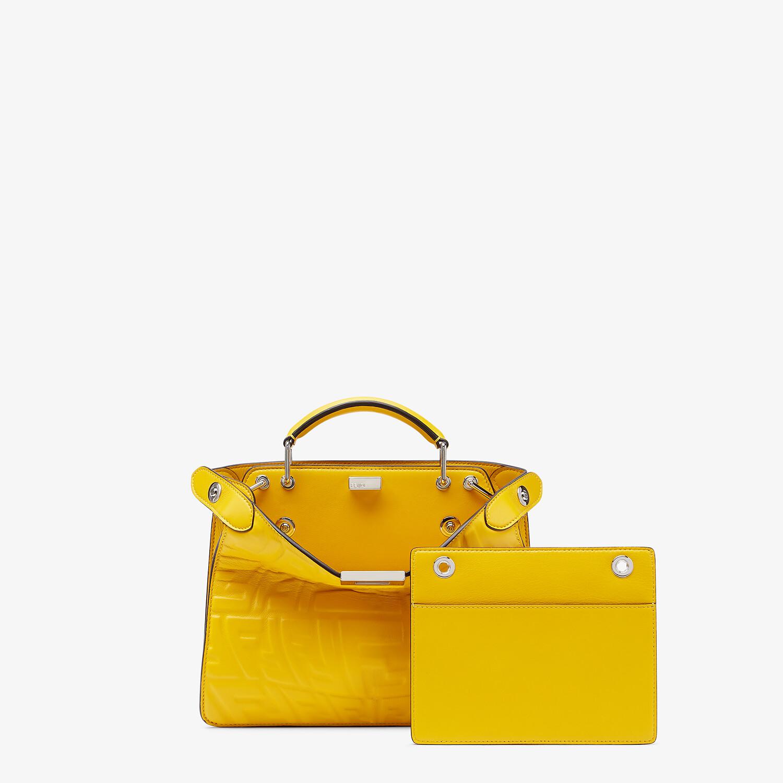 FENDI PEEKABOO ISEEU MINI - Yellow nappa leather bag - view 2 detail