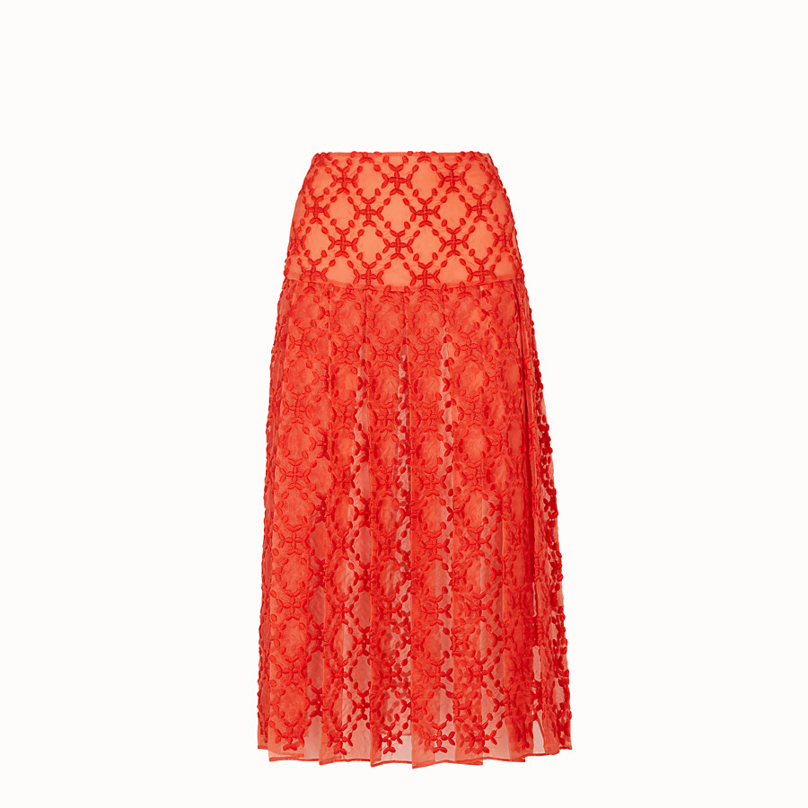 FENDI SKIRT - Orange organza skirt - view 1 detail