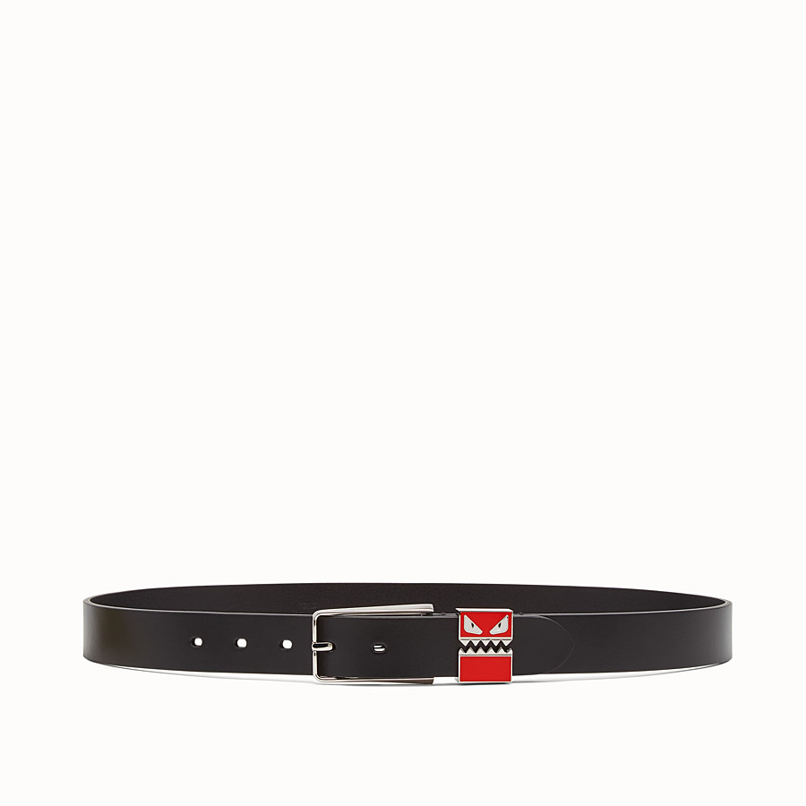 FENDI BELT - in black smooth leather - view 1 detail