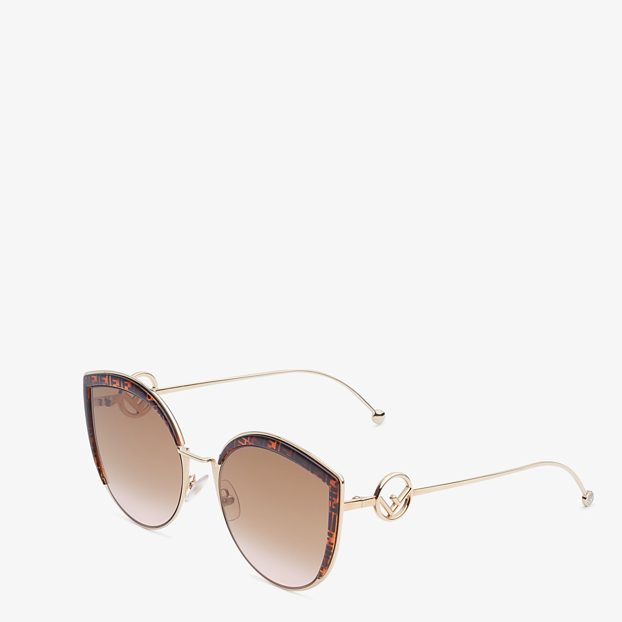 FENDI F IS FENDI - Rose-gold-colored sunglasses - view 2 detail