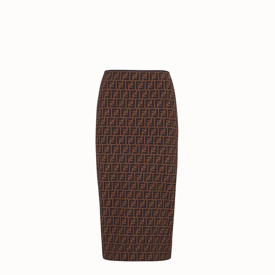 FENDI SKIRT - Brown micro mesh skirt - view 1 detail