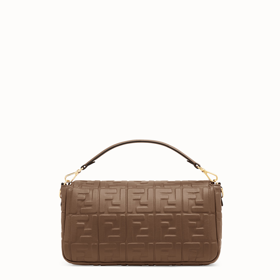 FENDI BAGUETTE LARGE - Green nappa leather bag - view 4 detail