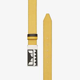 FENDI BELT - Reversible yellow and black belt - view 2 thumbnail