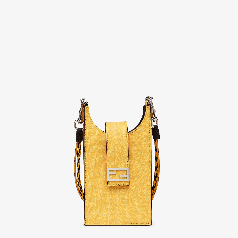 FENDI PHONE BAG - Yellow fabric mobile phone holder - view 1 detail
