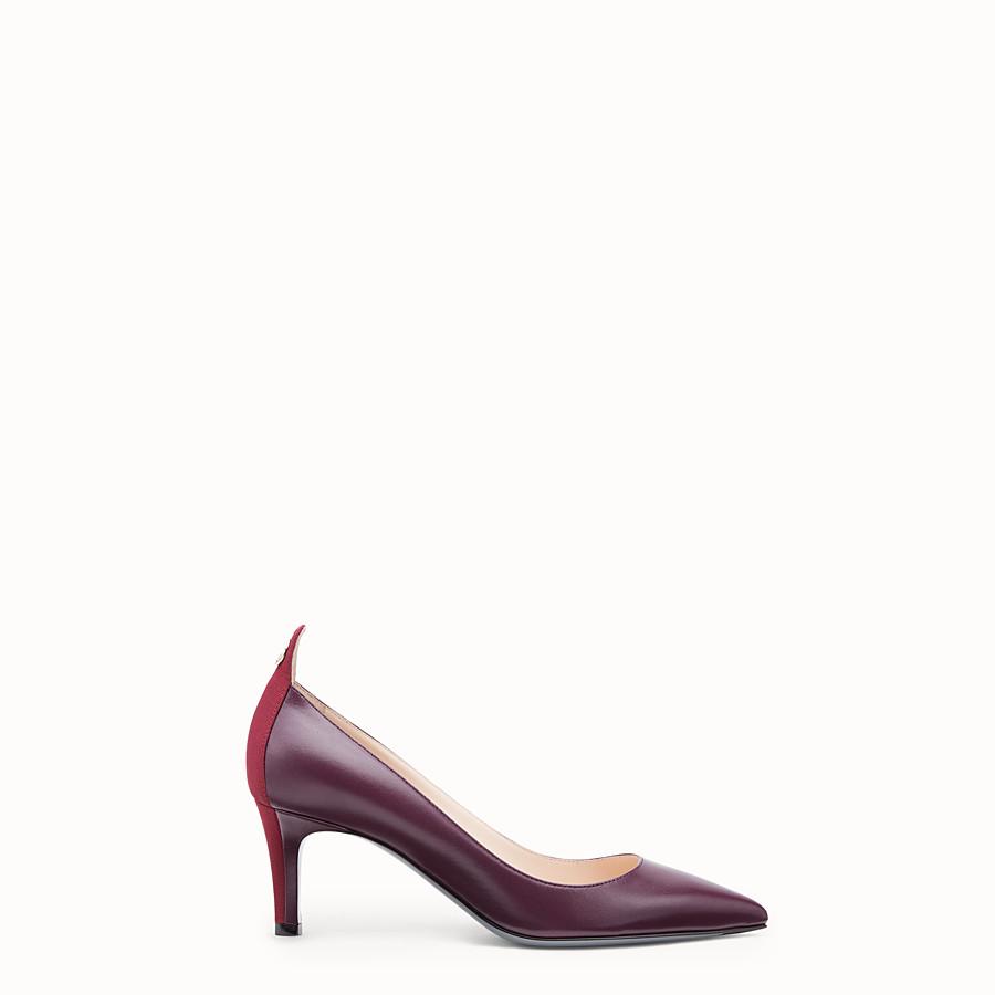 FENDI 高跟鞋 - 酒紅色皮革高跟鞋 - view 1 detail