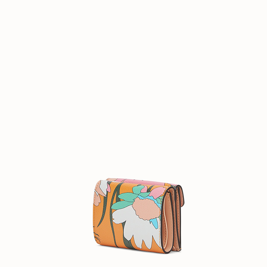 FENDI MICRO TRIFOLD - Multicolour leather wallet - view 2 detail