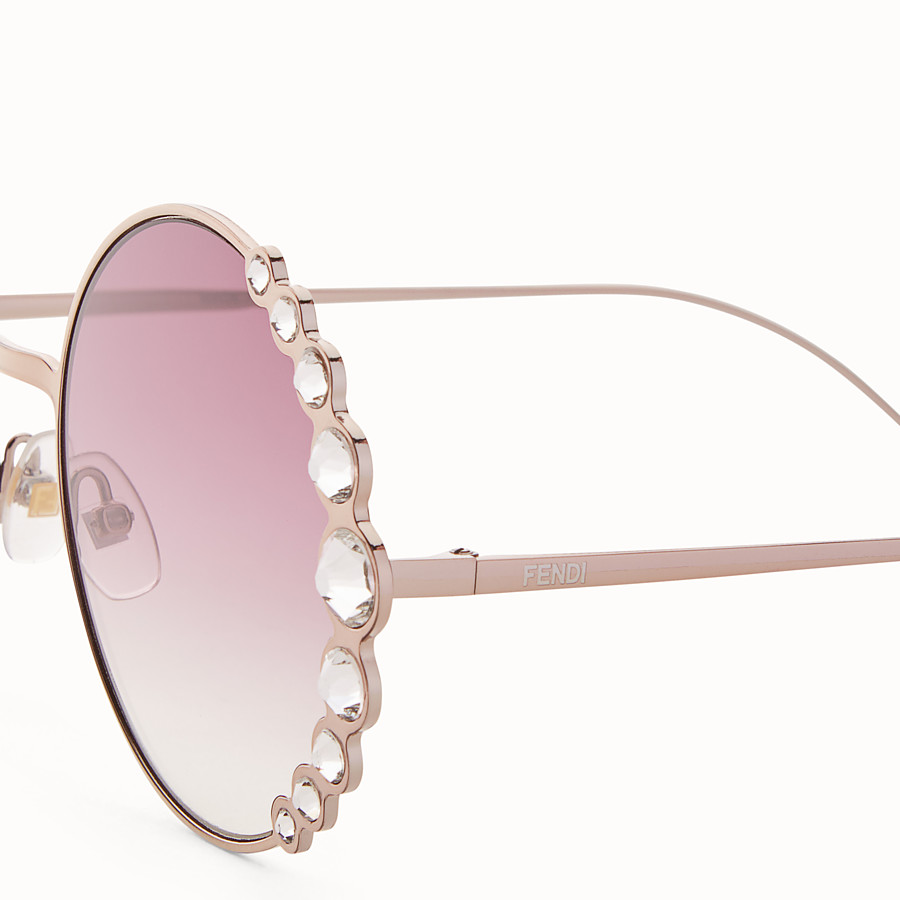 FENDI RIBBONS & CRYSTALS - Pink sunglasses - view 3 detail