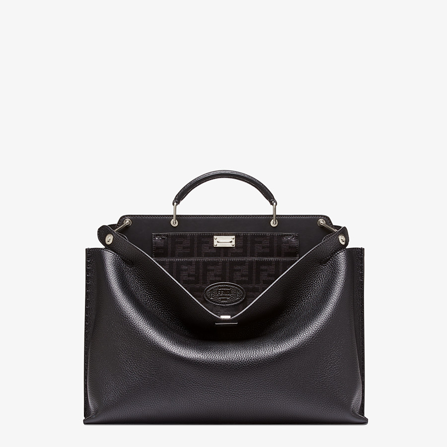 FENDI PEEKABOO ICONIC ESSENTIAL - Sac en cuir noir - view 1 detail
