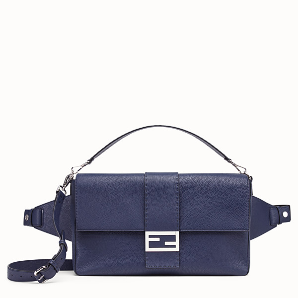 FENDI BAGUETTE - Blue leather bag - view 1 small thumbnail