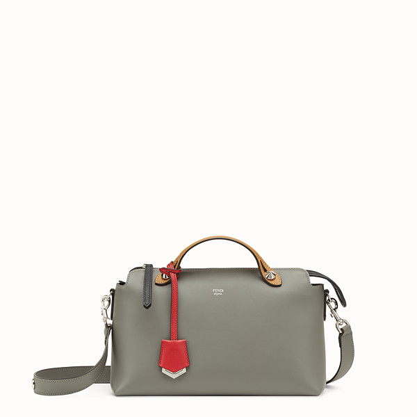 FENDI BY THE WAY REGULAR - Gray leather Boston bag - view 1 small thumbnail