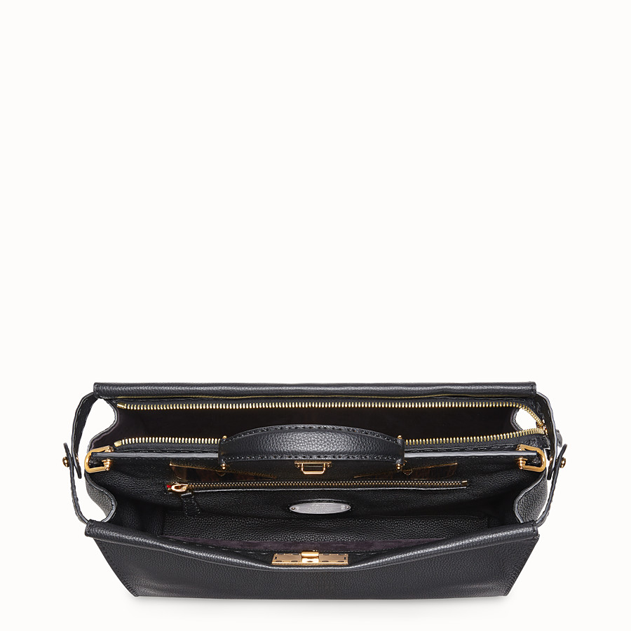 FENDI PEEKABOO REGULAR - Bolso de piel negra - view 4 detail