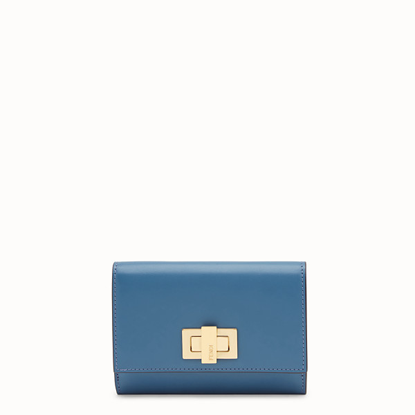 FENDI CONTINENTAL MEDIUM - Blue leather wallet - view 1 small thumbnail
