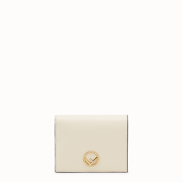 FENDI BIFOLD - White leather compact wallet - view 1 small thumbnail