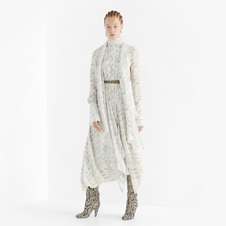 FENDI DRESS - White satin crêpe dress - view 4 detail