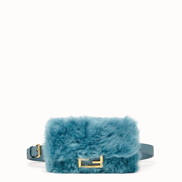 FENDI BELT BAG - Green sheepskin mini-bag - view 1 small thumbnail
