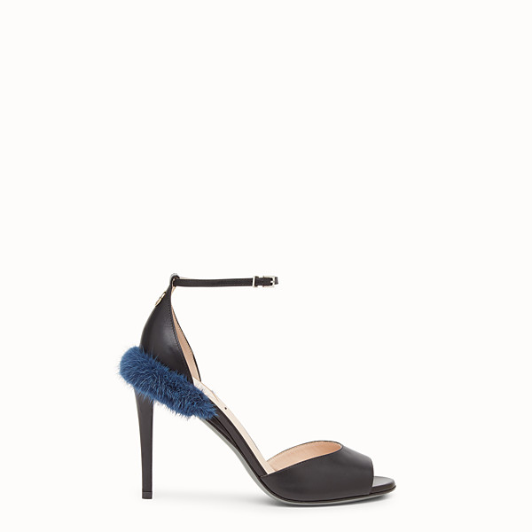 FENDI SANDALS - Black leather high sandals - view 1 small thumbnail