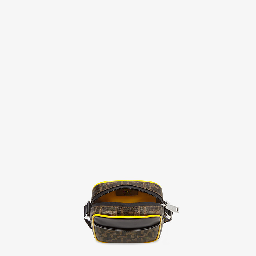FENDI SMALL MESSENGER - PU and black leather cross-body bag - view 4 detail