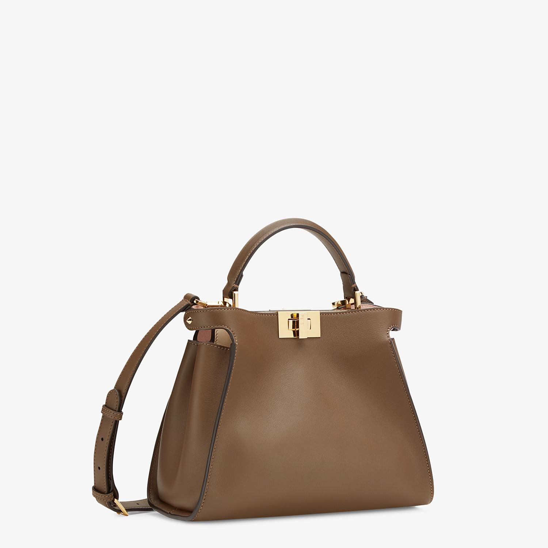 FENDI PEEKABOO ICONIC ESSENTIALLY - Brown leather bag - view 2 detail