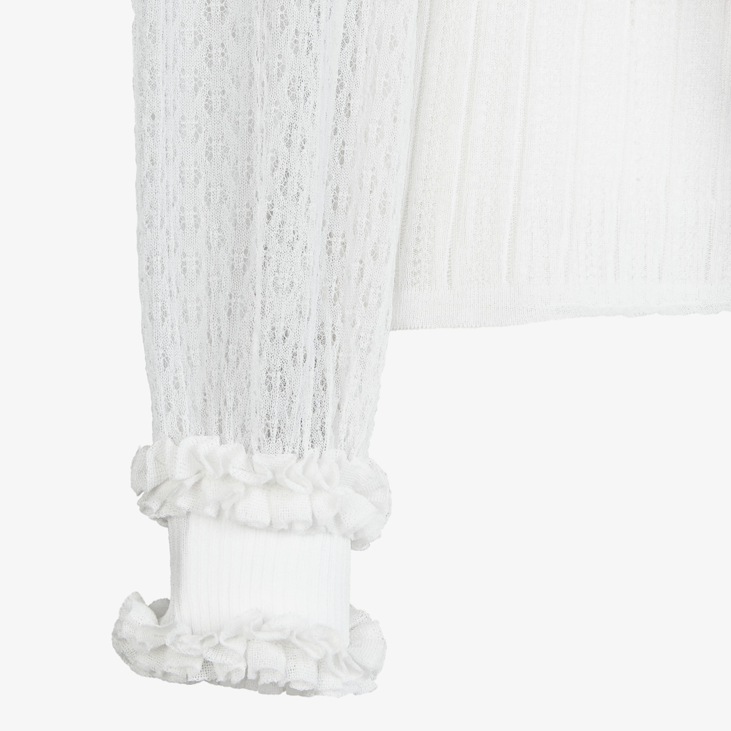 FENDI PULLOVER - White lace jumper - view 3 detail