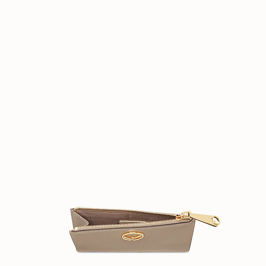 FENDI CARD POUCH - Beige leather card holder - view 4 detail