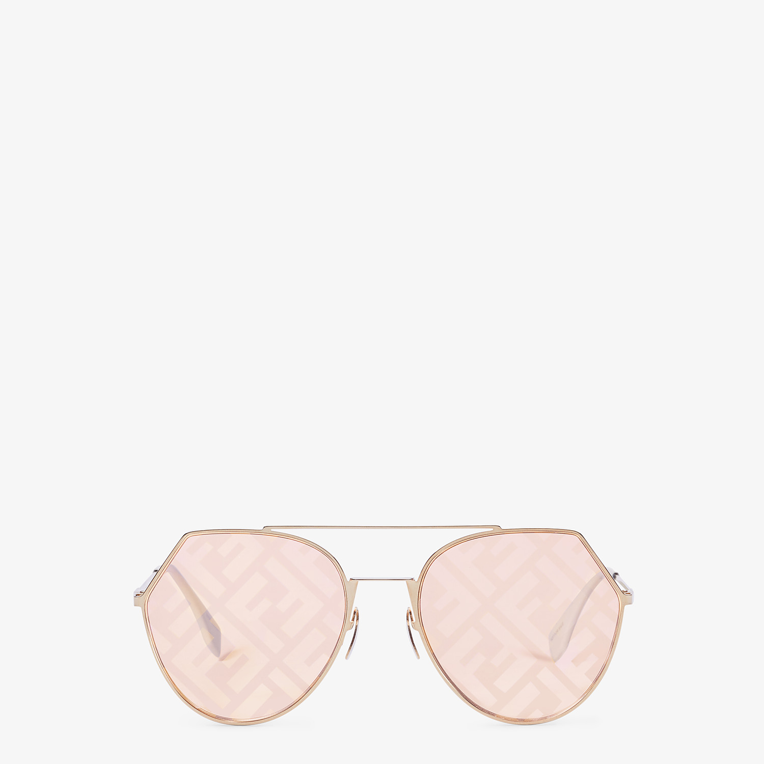 FENDI EYELINE - Gold-coloured sunglasses - view 1 detail