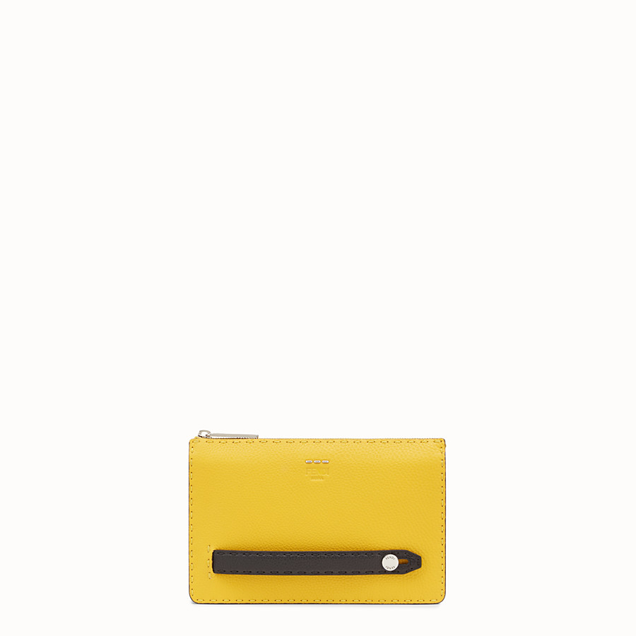 FENDI CLUTCH - in three-tone Roman leather - view 1 detail
