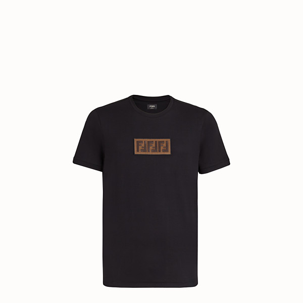 FENDI  - Black cotton T-shirt - view 1 small thumbnail
