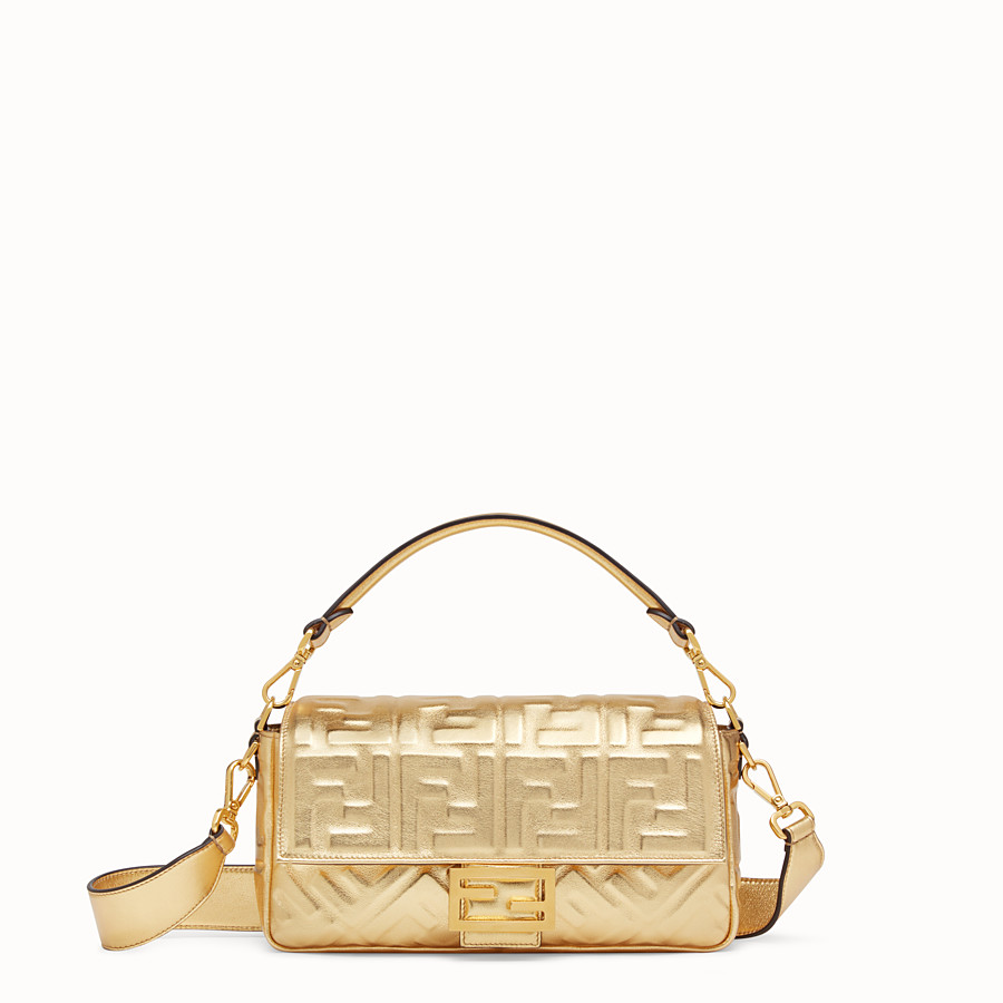 FENDI BAGUETTE - Golden leather bag - view 1 detail
