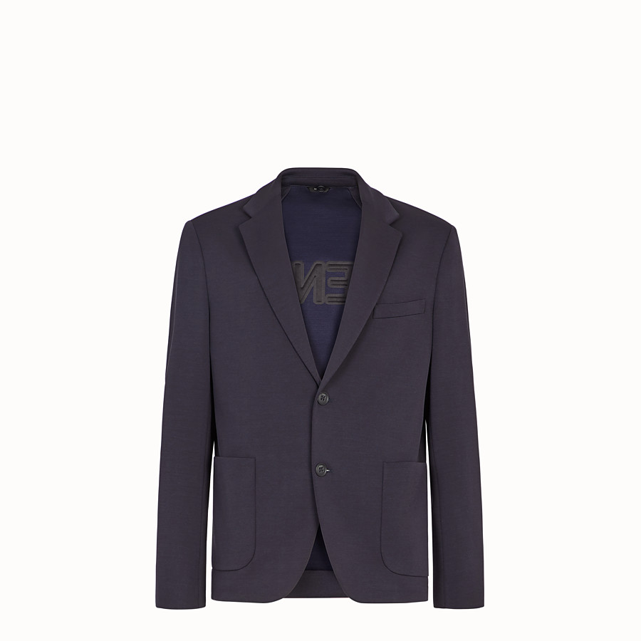 FENDI JACKET - Blue jersey blazer - view 4 detail
