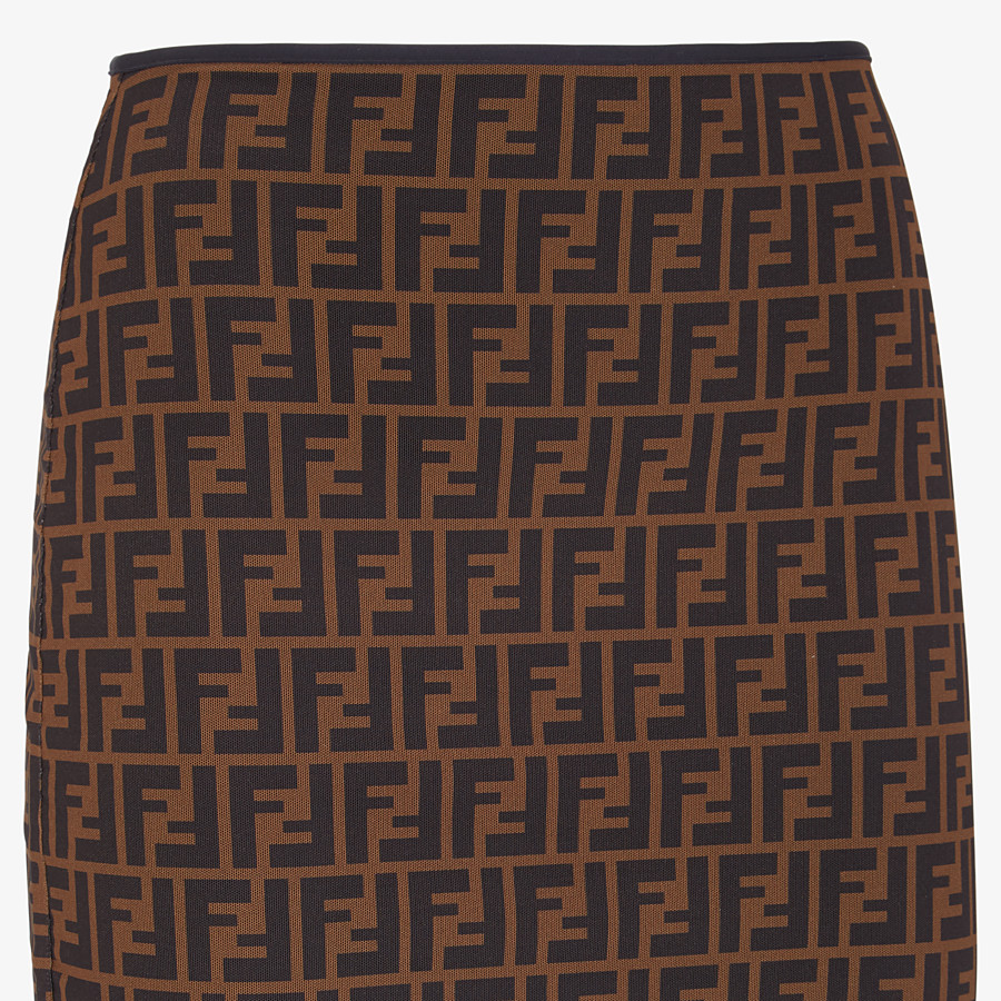 FENDI SKIRT - Brown micromesh skirt - view 3 detail