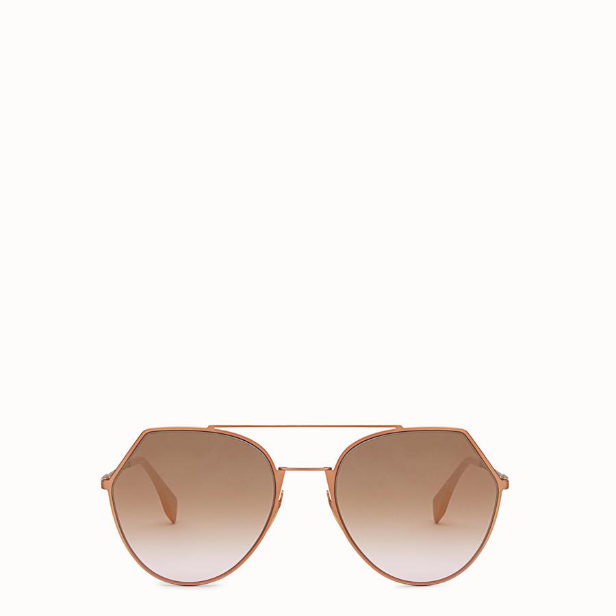 FENDI EYELINE - Occhiali da sole rosa matte. - vista 1 dettaglio