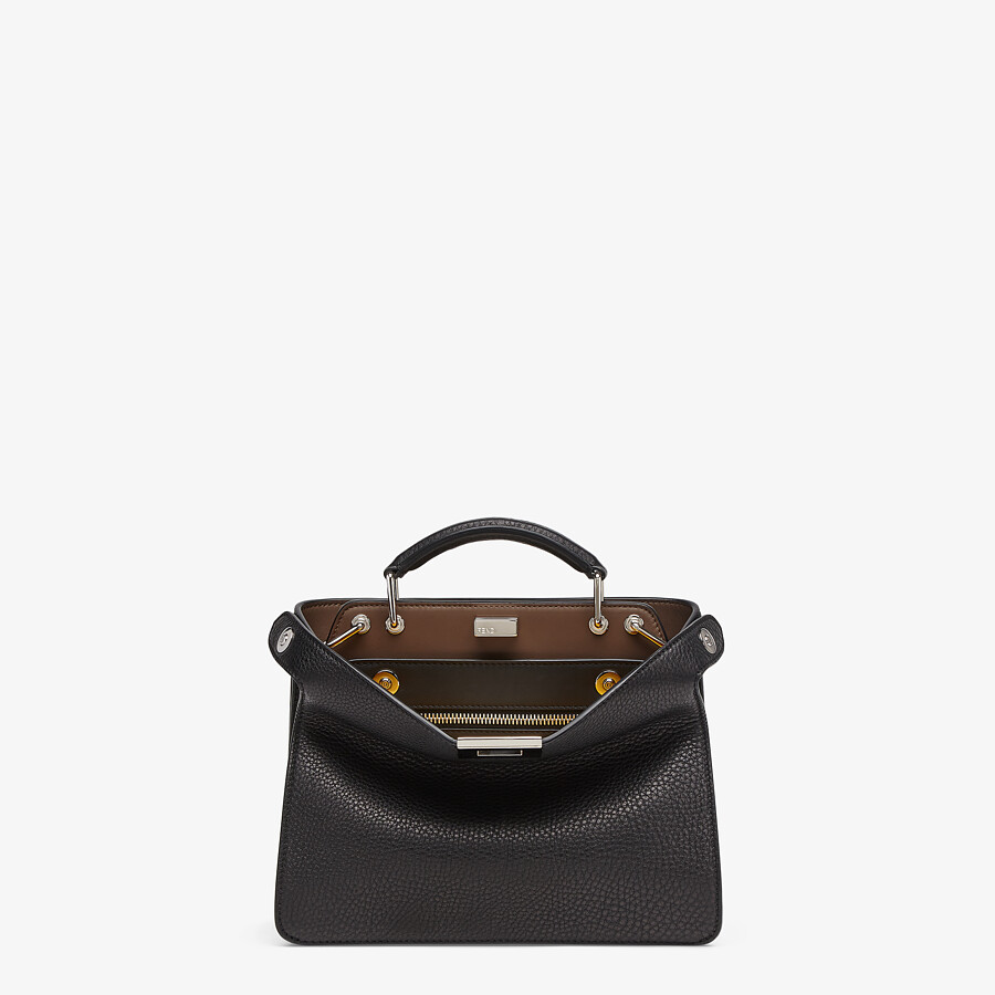 FENDI PEEKABOO ISEEU MINI - Black leather bag - view 1 detail