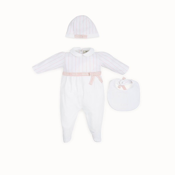 FENDI BABY GIRL'S KIT - Kit in pink and white jersey - view 1 small thumbnail