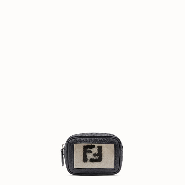 FENDI SMALL CAMERA CASE - Black leather bag - view 1 small thumbnail
