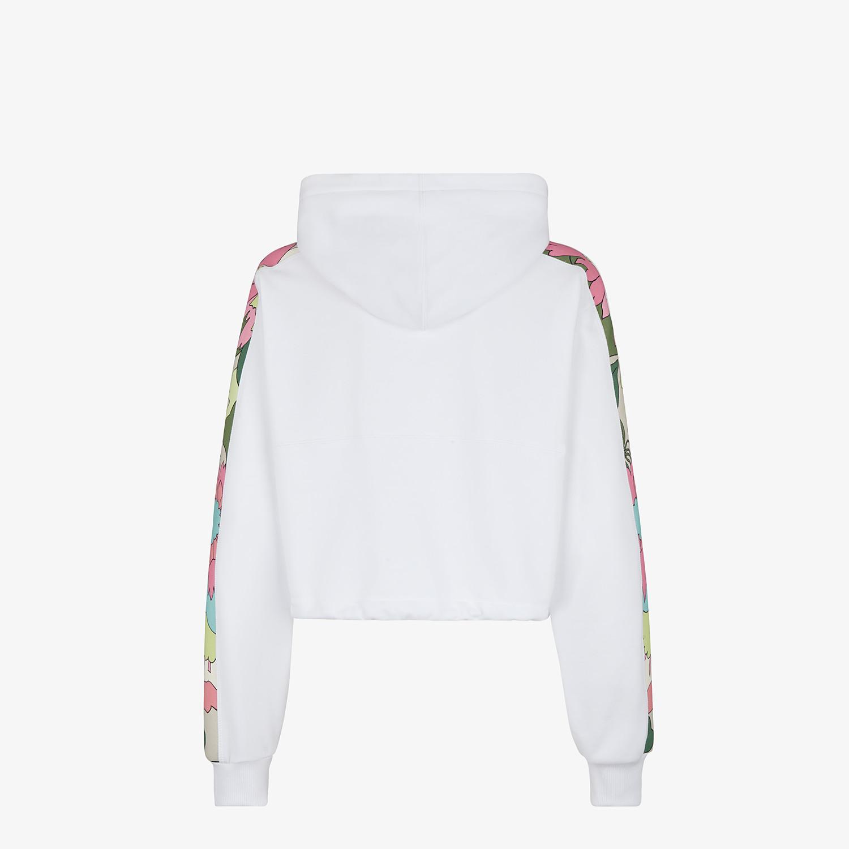 FENDI SWEATSHIRT - White jersey sweatshirt - view 2 detail