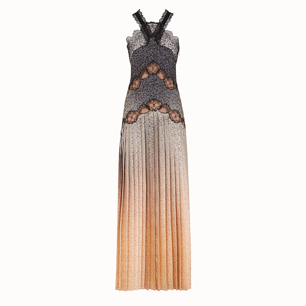 FENDI DRESS - Dress in beige silk twill - view 1 small thumbnail