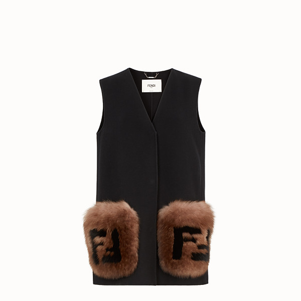 FENDI GILET - Black wool gilet - view 1 small thumbnail