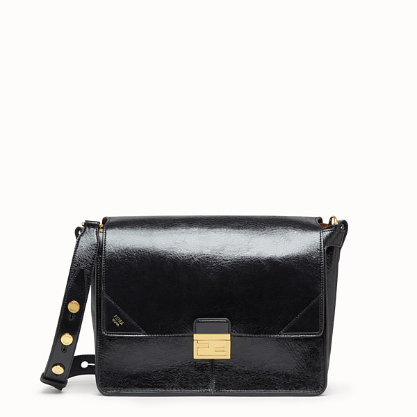 FENDI KAN U LARGE - Black leather bag - view 1 small thumbnail